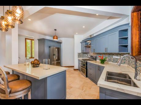 A stylish imported and custom-designed kitchen.