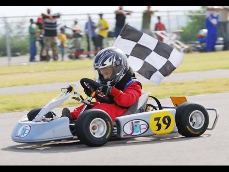 Grandson of Richard Sirgany Sr, Justin Sirgany, go-karting in 2008.