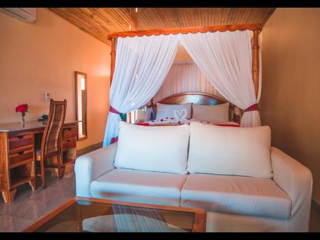 Junior suites come with a number of amenities.