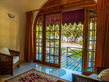 Garden view rooms are much more than line of sight and open right into the greenery of the gardens of the Charela Inn.