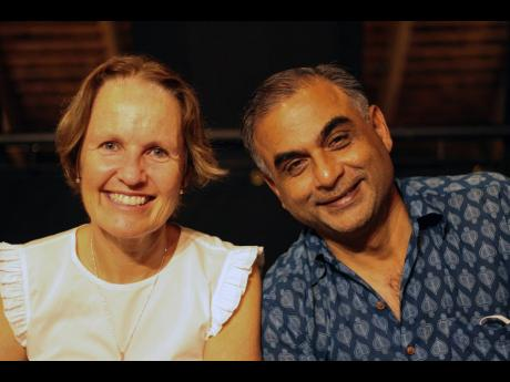 You can tell by the smiles on the faces of Cellar 8 co-owner Jenny Pragnell (left) and close friend Vikram Dhiman that they enjoyed the new menu.