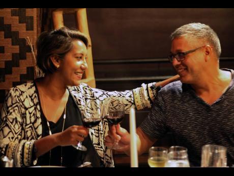 Marketing consultant and Cellar 8 partner Nasma Chin and her husband, Alex Chin, clink their glasses and say cheers to life over refreshing conversation and stimulating wine.