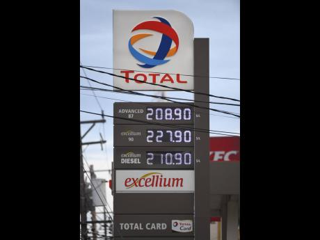 Pump prices are hiked on the evening of Tuesday, September 14, at Total Cross Roads.