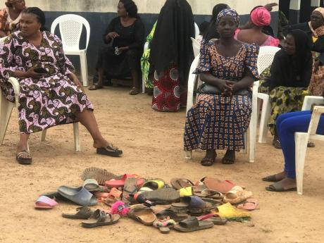 Parents of abducted school children of the Bethel Baptist High School wait for news on their children in Damishi, Kaduna, Nigeria.