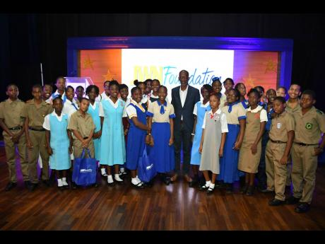 Chairman of JWN Foundation Clement 'Jimmy' Lawrence with 2019 scholarship awardees.