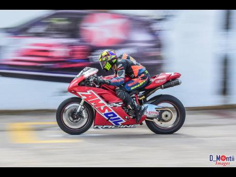 Taking on the Dover race track on two wheels is no easy feat.
