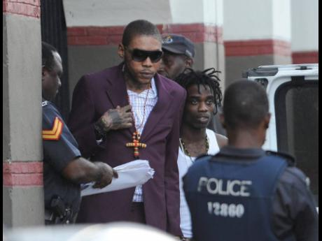 Vybz Kartel seen leaving the Home Circuit Court in this 2014 photo.