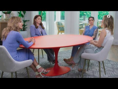 Co-hosts (from left): Lili Estefan, Gloria Estefan, and Emily Estefan with guest Clare Crawley during a taping of 'Red Table Talk: The Estefans'. In the episode 'Betrayed by Trusted Adults'. posted Thursday on Facebook Watch, Gloria Estefan reveal