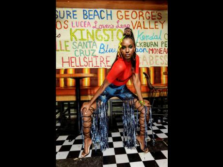 With walls painted with the names of parishes and notable attractions in Jamaica, Project Runway alum and designer Sammy B recently shot and released her latest collection, 'Small but we Tallawah', at Omar's Kitchen.