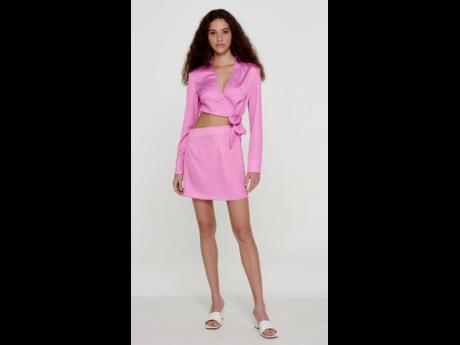 Right: A mini dress featuring a midriff cutout, available at Glam Expressway.