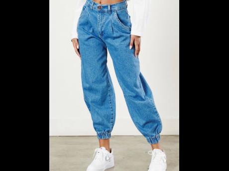 Even if you're not a mom, '90's inspired mom jeans are currently trending and available at Glam Expressway.