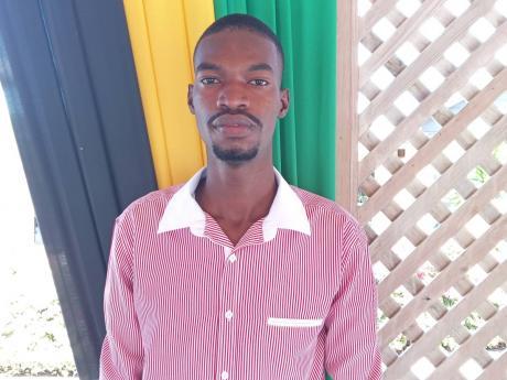 Jaron Saunders, an engineering student at the Caribbean Maritime University.