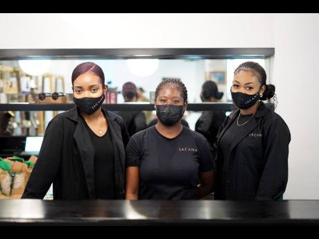 The JACANA customer experience team (from left): Arika Scarlette, Sheriffa Brown, and Samantha Jones.