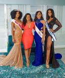 From left: Shanique Thompson, Miss Universe Jamaica Central; Soyini Phillips, franchise owner, Miss Universe Jamaica Eastern; Alexia Royal Eatmon, Miss Universe Jamaica East; and Iana Tickle Garcia, Miss Universe Jamaica 2019.