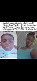 Missing teen Karelle Richards.