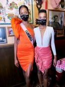 Miss Universe Jamaica Miqueal-Symone Williams and reigning Miss Universe Zozibini Tunzi.