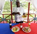 Veteran cook Glenroy Cammock gets started with breakfast preparation at 5:30 p.m., before moving on to lunch, dinner and supper.