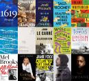 This combination of book cover images shows cover art for upcoming releases, top row from left, 'The 1619 Project: A New Origin Story' by Nikole Hannah-Jones, releasing November 16 (One World), 'Crossroads,' a novel by Jonathan Franzen releasing o