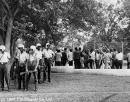 In this 1968 photograph, police and military occupy the UWI Mona campus as students demonstrated against the exclusion from the island of lecturer Walter Rodney. The students protest sparked off vandalism in areas of Kingston.